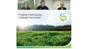 Talent Central - Webinar - A chat with Fonterra
